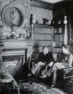Léon Daudet et son père, rue de Bellechasse...
