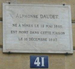 La mort d'Alphonse Daudet...