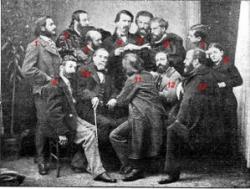 Mistral lisant Calendal aux Félibres en 1866.