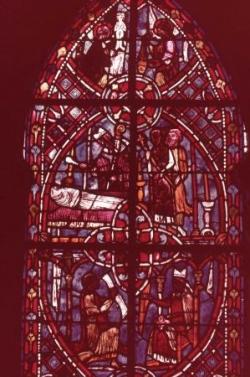 Racines (III) : Le vitrail du Miracle de Théophile