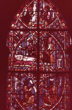 XIX: Théophile remet le pacte à l'évêque.