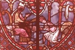 XX: Théophile reçoit la pénitence de l'évêque.