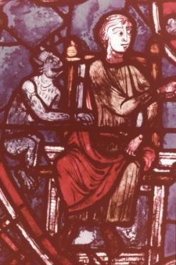 VIII: Le diable surveille Théophile (détail).