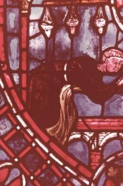 XV: Théophile prosterné (détail du précédent).