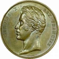 Médaille du sacre de Charles X : avers...