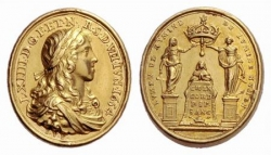 Médaille du sacre de Louis XIV....