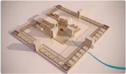 La vision du Temple avec le fleuve Kédar.jpg