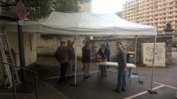 Samedi 19 septembre : montage du stand de l'Associ
