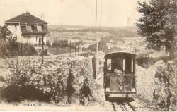 Arrivée à la gare haute, fin des années 1910
