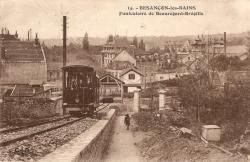 Départ de la gare basse, vers 1915
