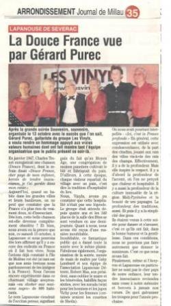 Journal de Millau (15/10/2012)