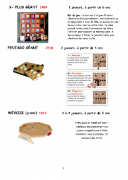 catalogue jeux