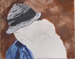 finition du chapeau et une partie de la veste