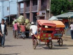 transport en pousse pousse