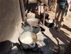 la cuisson des cocons