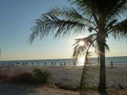 coucher soleil sur la plage.JPG