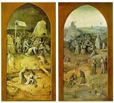 Bosch Tentation de saint Antoine, panneaux fermés