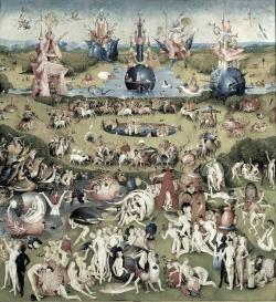 Bosch Le jardin des délices, le paradis grisée