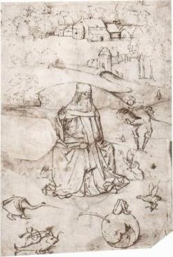 Bosch, dessin, Tentation de Saint Antoine