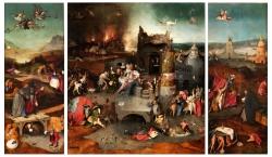 Bosch, Tentation de saint Antoine, musée de Lisbon