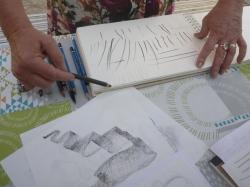Le geste crayon - pinceau