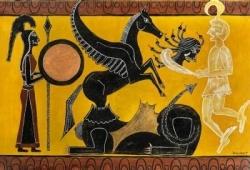 Centaure et Pégase