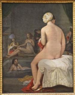 65 La petite baigneuse, intérieur de harem 1828 .