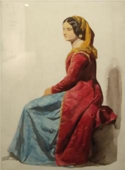 Femme de Procida assise Dominique Papety