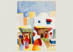 August Macke Marché de Tunis