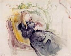Berthe Morisot chaine longue, lisant