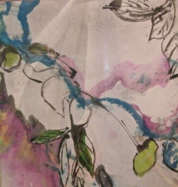 M.A. fleurs aquarelle papier chinois