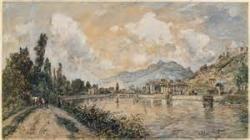 Johan Barthold Jonkind La Seine à rouaen