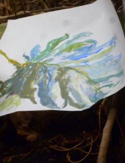 Aquarelle par visiteur des serres