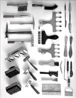 Hans Hartung ses outils