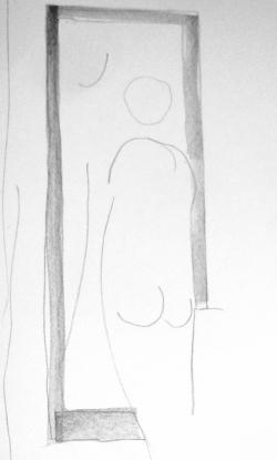 Bonnard femme à sa toilette