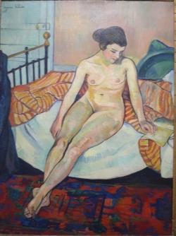 Suzanne valadon, Nu à la couverture rayée