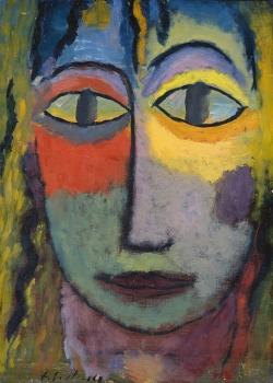 1923 Jawlensky-Alexej-von_Tete-de-femme-