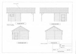 Plans d'élévation garage