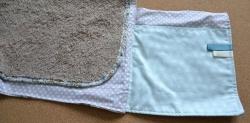 Détails poche 1 du tapis à langer nomade
