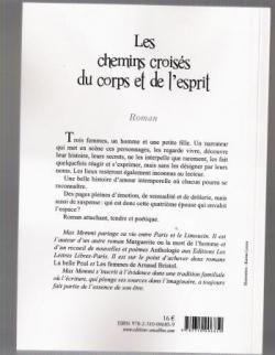 """4ème de couverture du roman """"les chemins croisés d"""
