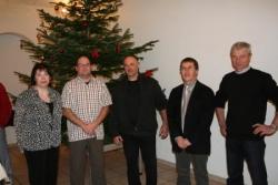 Oberbruck : les élus avec le nouvel ouvrier commun