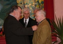 Médaille en vermeil pour Marcel Mattauer