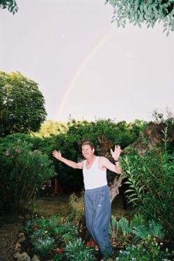 Arc en ciel dans le jardin de la Vacquière