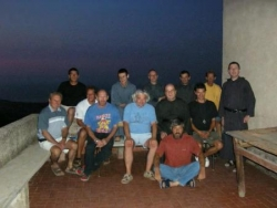 Avec les frères du monastère en Corse