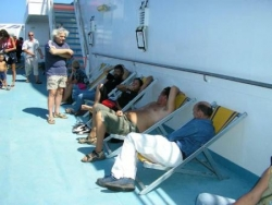 Sur le bateau pour la Corse