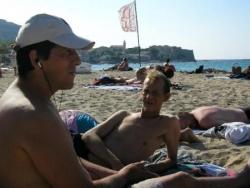 Sur la plage en Corse