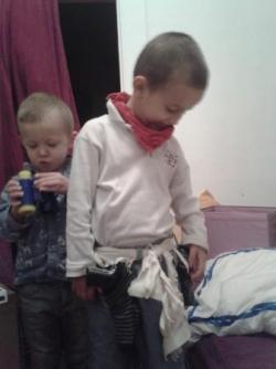 Ceinture de cowboy avec étuis chaussettes