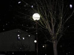 Et la neige clôt la soirée