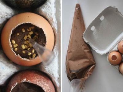 Diy mousse au chocolat dans sa coquille d 39 uf flamant rose le blog - Coquille d oeuf dans le jardin ...