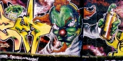 le clown vert et méchant - canal - 2004